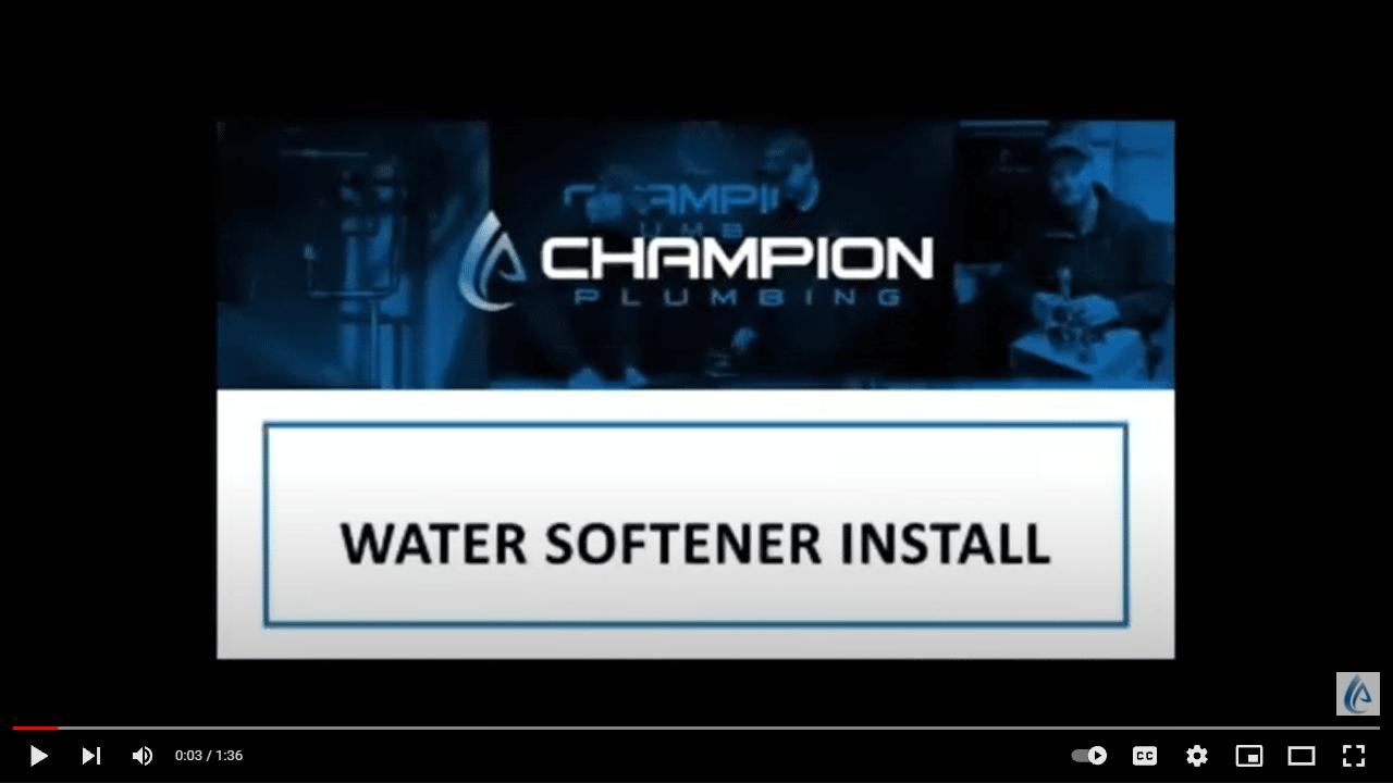BrassMaster Water Softener installation