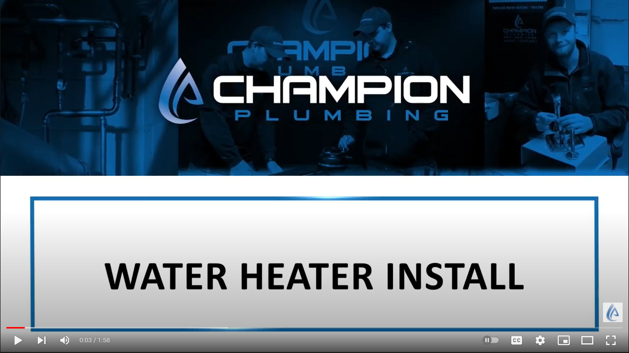 New RUUD water heater replacement in hastings